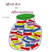 """Affirmations and Word Art"" by Leah Oviedo. at Bookemon.com"