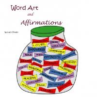word art book, affirmations book