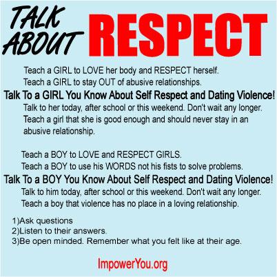 Dating violence poster