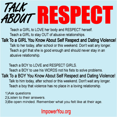 Dating violence poster