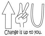 changeisup2u, up to you, volunteerism
