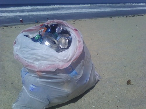 recycling at the beach, recycle in Oceanside California