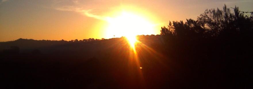 January 2014 sunrise, new year sunrise
