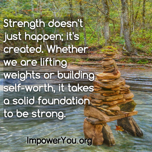 river rocks, stacked rocks, strength quote