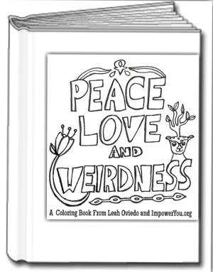 peace love weirdness coloring book