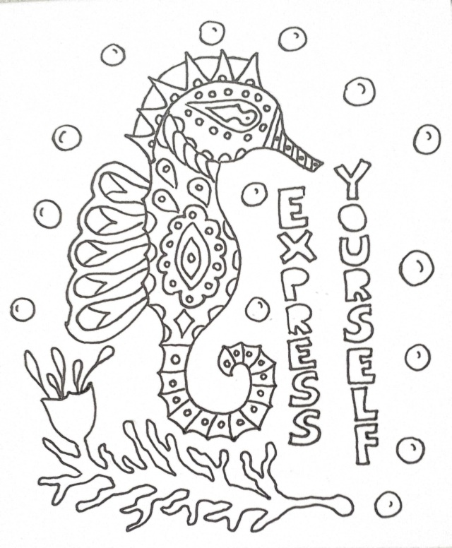 express yourself coloring page by Leah Oviedo