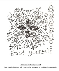 Trust Yourself coloring page