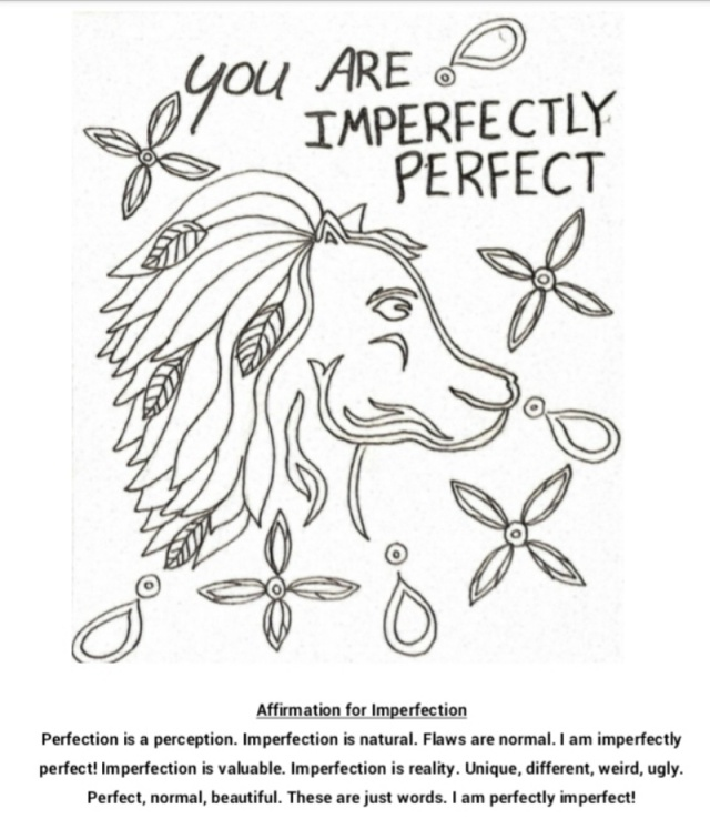 imperfectly perfect coloring page