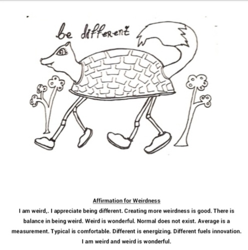 Be Different coloring page