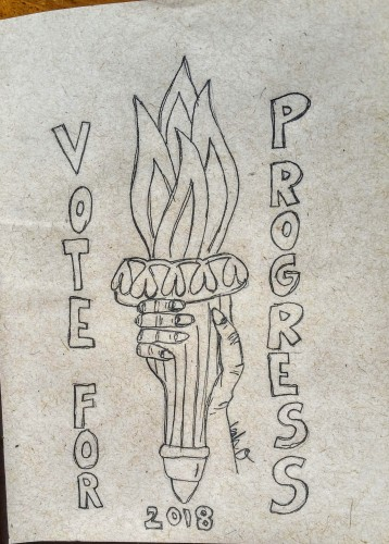 vote progress illustration