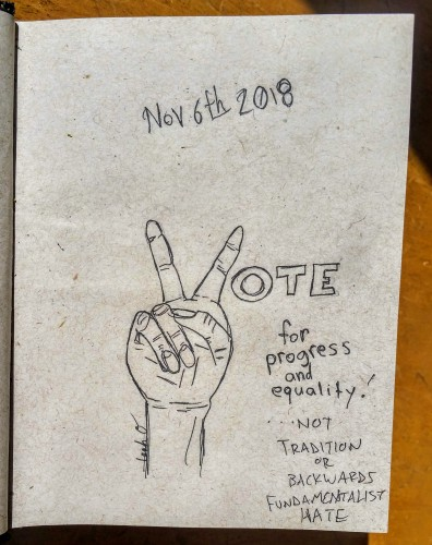 peace sign vote illustration